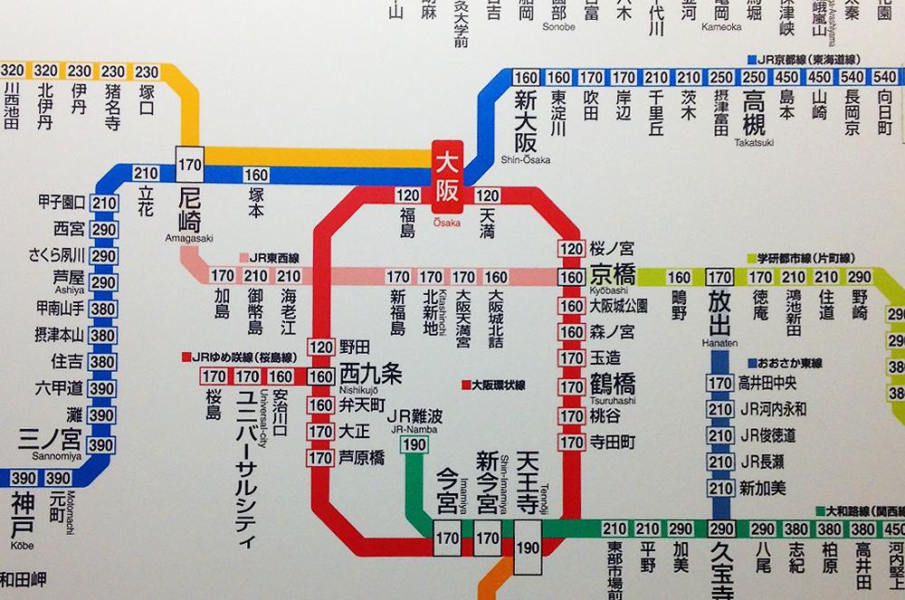 Еще кусочек схемы метро Оскаки